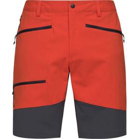 Haglöfs Rugged Flex Pantalones cortos Hombre, naranja/gris
